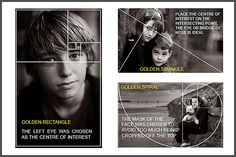 Portrait Photography Ebook about Golden Ratios, Golden Triangle, Golden Spiral #photographytips