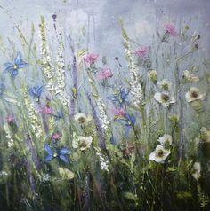 'Mother's gift' by Marie Mills, 80cm x 80cm, Oil on linen, £995. www.lyndhurstgallery.co.uk