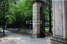 walkway at princeton - Just outside the gates of Princeton University
