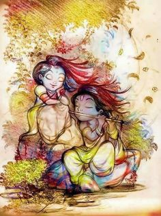 Divine Young Couple Hare Krishna, Radha Krishna Love, Radhe Krishna Wallpapers, Lord Krishna Wallpapers, Krishna Drawing, Krishna Painting, Lord Krishna Images, Radha Krishna Pictures, Comics Und Cartoons