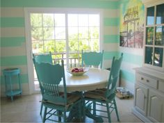 The kitchen is so bright and beachy now! LOVE it!