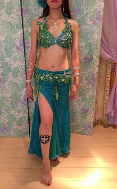 MOSCOW-AJ030 NEW 湖色 - ベリーダンスの女神 -あなたのためのベリーダンス衣装、オーダーメイド