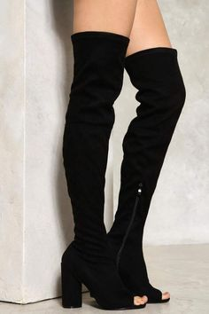 nastygal Take Me Higher Over-the-Knee Boot