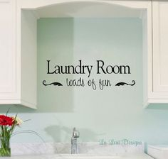 Laundry Room Decal Wall Decal Vinyl Lettering Wall by LaLeni, $10.00