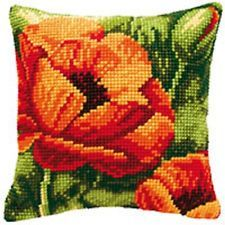 Poppy Heads - Large Holed Tapestry Cushion Kit - Tapestry Canvas - 1200702