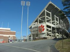 Clemson University Tigers football - outside south stands of Frank Howard Field at Memorial Stadium.