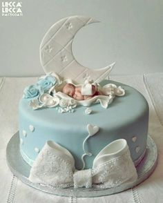 Baby cake - by leccalecca @ CakesDecor.com - cake decorating website