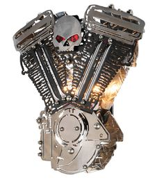 2 Light Motorcycle Motor Wall Sconce