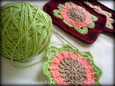 The Lazy Hobbyhopper: Crochet flower square