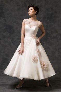 NEW Short Bridal Prom Dress TEA Length Wedding Gown Size 6 8 10 12 14 16 18 | eBay