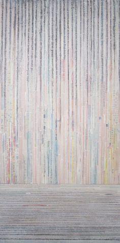 "Joni Marie Theodorsen | by SJICA  Sun, 2015 Oil over newspaper on two panels 40 x 20"" Retail Price: $680 Courtesy of the Artist  <a href=""http://www.jonimarietheodorsen.com"" rel=""nofollow"">Artist Website</a>"