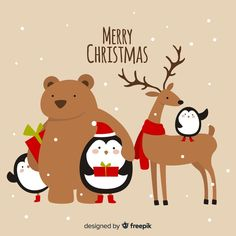 More than a million free vectors, PSD, photos and free icons. Exclusive freebies and all graphic resources that you need for your projects Happy Merry Christmas, Noel Christmas, Christmas Greetings, Illustration Noel, Christmas Illustration, Illustrations, Christmas Arts And Crafts, Christmas Cards To Make, Childrens Christmas