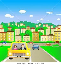 #Taxi #Vector #illustration