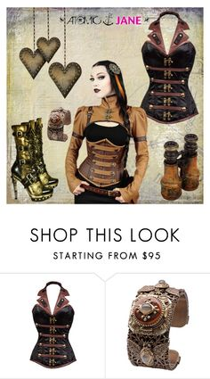 """""""ATOMIC JANE"""" by atomic-jane ❤ liked on Polyvore featuring Halter, steampunk, atomicjanesteam and overbust"""