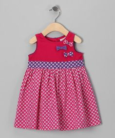Take a look at this Pink Floral Bows Galore Dress - Infant, Toddler & Girls on zulily today!