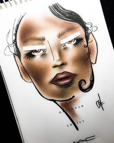 Getting ready for FW Aus. 17' . . #facechart #facecharts #fashionweek #ausfashionweek #maccosmetics #macfacechart #fun #love #passion #makeup