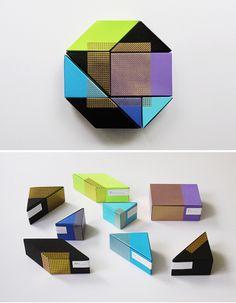 典雅七巧板的包裝靈感   MyDesy 淘靈感
