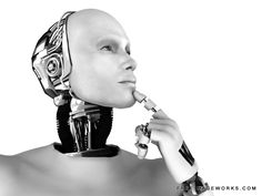 3d, android, artificial, bionic, cable, contemplating, cyber, cybernetics, cyborg, daydreaming, face, fiction, future, futuristic, gazing, hand, head, illustration, isolated, looking, machine, machinery, male, man, mechanical, metal, profile, robot, robotic, sci-fi, science, scifi, technology, think, virtual, visioning, white, wires