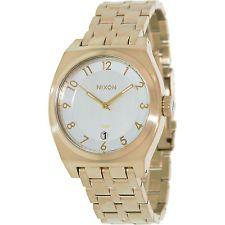 2f703063efb A3251219-00 Ouro de aço inoxidável relógio de quartzo de Nixon Homens com  mostrador prata