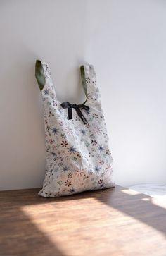 Everyday shopping bag reversible bag boho bag simple by overdo
