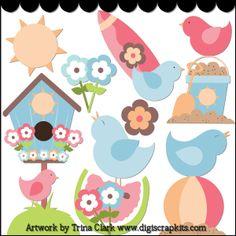 Summer Birds 1 - Non-Exclusive Trina Clark Clip Art : Digi Web Studio, Clip Art, Printable Crafts & Digital Scrapbooking!