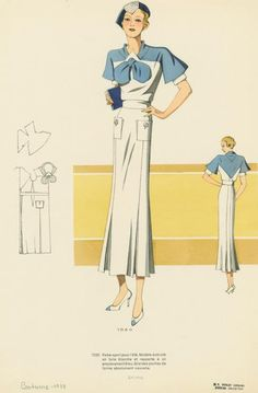 Vintage 1930s Fashion Sketches + Designs + 1930s was an amazing time for beautifully made and well tailored garments!