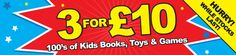 3 kids toys for £10 at The Works. Hurry, while stocks last. What will you discover?