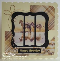 Card made with the Zebra from Brush strokes in the wild cd