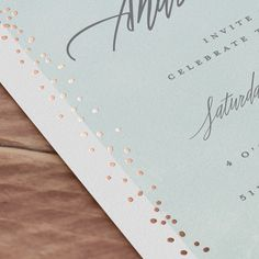 Shimmering Evening Foil-Pressed Wedding Invitations by Grace Cobb | Minted