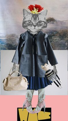 collage surrealism xerox multiple sizes if animal faces let students dress and place them