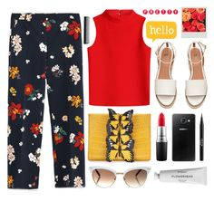 """""""Spring Into Summer"""" by cara-mia-mon-cher ❤ liked on Polyvore featuring Zara, Nancy Gonzalez, Courrèges, Gucci, MAC Cosmetics, Samsung, GHD, Stila and Byredo"""