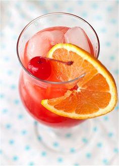 Hurricanes:  1.5 oz (1 shot) light rum  1.5 oz (1 shot) dark rum  1.5 oz freshly squeezed orange juice  1 oz freshly squeezed lime juice  1 oz grenadine  agave nectar, optional  Maraschino cherries and orange slices to garnish  ice