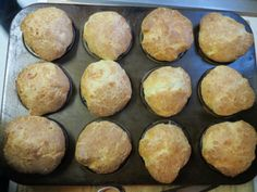 Simple popover recipe with muffin tins.