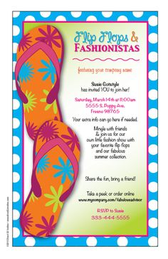 Make your direct sales home parties fun with fabulous invites starting at $5.95 from www.direct2uinvites.com