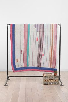 One-Of-A-Kind Majha Kantha Quilt  #UrbanOutfitters