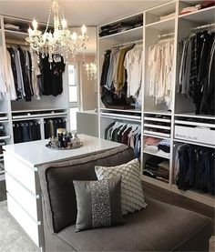 walk in closet ideas organization; small walk in clos… closet organization ideas; walk in closet ideas organization; small walk in closet ideas; Walk In Closet Small, Walk In Closet Design, Bedroom Closet Design, Master Bedroom Closet, Closet Designs, Master Bedrooms, Wardrobe Design, Spare Room Closet, Small Bedrooms
