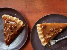 Sticky-Toffee Pecan-Pumpkin Pie : When pumpkins and pecans come together, you know you've got a crowd-pleasing Thanksgiving pie — and a toffee topping brings extra sweetness.