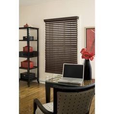 Richfield Studio 2.5 inch Faux Wood Blind, Espresso, 48 inch Length, Brown