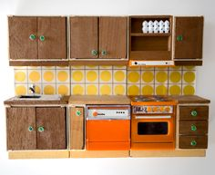 awesome doll house kitchen via dosfamily