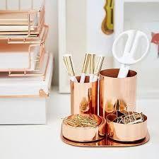 Resultado de imagen para copper office accessories