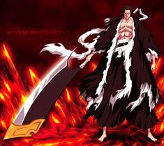 This HD wallpaper is about Bleach, Kenpachi Zaraki, Original wallpaper dimensions is file size is Bleach Manga, Bleach Fanart, Bleach Characters, Anime Characters, Character Art, Character Design, Character Ideas, Kenpachi Zaraki, Cool Anime Pictures