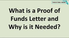 What is a Proof of Funds Letter and Why is it Needed? Real Estate Coaching, Real Estate Investor, Investing, Lettering, Calligraphy, Letters, Texting, Brush Lettering