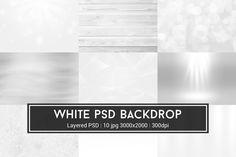 White PSD Backdrop by Krukowski Graphics on @creativemarket
