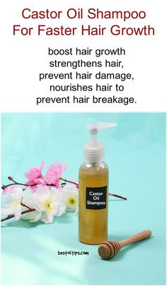 Hair Remedies Castor oil shampoo for hair growth Recipe - Shampoo plays an important role in our daily lives. Whether your hair is long or short, dry or oily- shampoo is needed to cleanse it on a regular basis. So, it is important to choose [. Diy Shampoo, Castor Oil Shampoo, Homemade Shampoo, Homemade Hair, Homemade Products, Hair Growth Shampoo, New Hair Growth, Shampoo For Thick Hair, Natural Shampoo