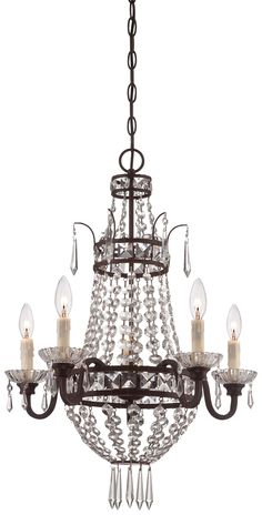 """Overall Dimensions: 27.5"""" in height, 20"""" in width,Accomodates: (5) B10.5 Candelabra Base 60 watts max bulb(s)"""