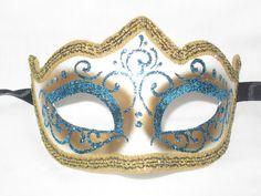 Venetian Masquerade Masks, Bird Costume, Carnival Masks, Blue Glitter, Mask Making, Mardi Gras, Blue Bird, Light Blue, Purple
