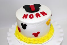 MM smash cake with buttercream.