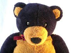 Dakin 28 inches Navy Blue Brown Bear 1992 Vintage #Dakin