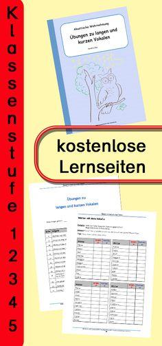 Zum Hineinschnuppern der Lerneinheit gibt es eine kostenlose Download-Version. Lange und kurze Aussprachen üben, lesen und schreiben lernen. #Rechtschreibung #Rechtschreibregeln #Deutsch #Grundschule