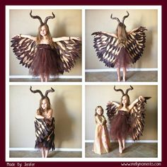 DIY Halloween Costumes on Melly Moments Blog, including this amazing Maleficent costume! Every little girl would want to wear this!